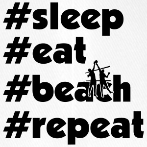 sleep eat beach repeat maenner xy - Flexfit Baseballkappe