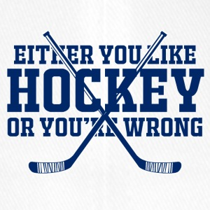 Eishockey: Either You Like Hockey Or You´re Wrong - Flexfit Baseballkappe