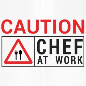 Koch / Chefkoch: Caution - Chef at work. - Flexfit Baseballkappe
