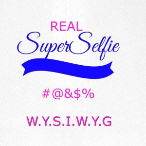 superselfietransparant - Flexfit baseballcap