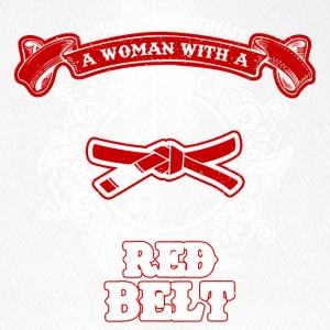 No woman with red belt sayings - Flexfit Baseball Cap