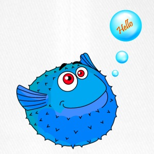 Cute Blue Puffer Fish - Flexfit Baseball Cap