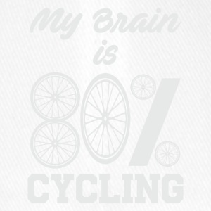 MY BRAIN 80% CYCLING - Flexfit Baseball Cap