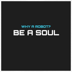 Why a robot? BE IN SOUL - Flexfit Baseball Cap
