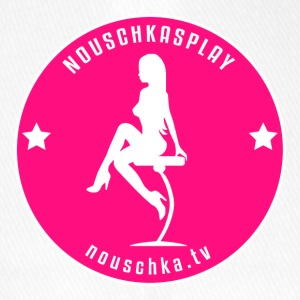 Nouschkasplay Badge pink_white 2017 - Flexfit baseballcap