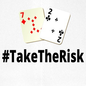 Take The Risk 7 2o schwarz - poker - Flexfit Baseballkappe
