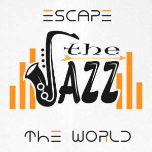 Escape the World Jazz Saxophone Music Passion Song - Flexfit basebollkeps