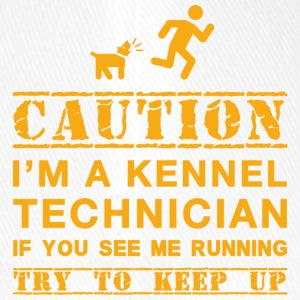 Caution Kennel Technician - Flexfit baseballcap