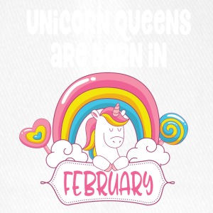 Unicorn Queens are born in February - Flexfit Baseball Cap