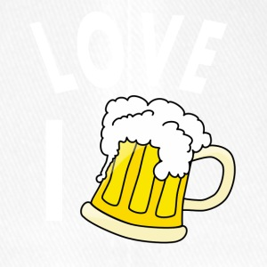 I love beer - Flexfit Baseball Cap