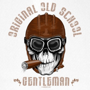 20-11 Original Old School Gentleman, cool skull - Flexfit Baseball Cap