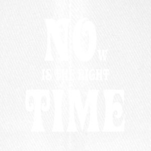 NOW IS THE RIGHT TIME - NO TIME, white - Flexfit Baseball Cap