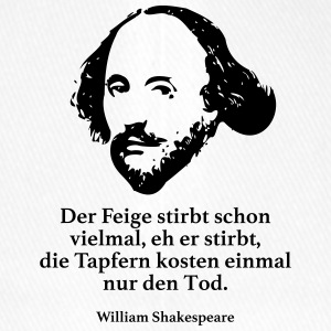Shakespeare: The fig dies many times, eh - Flexfit Baseball Cap