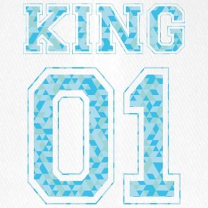 KING 01 - Blue Edition - Flexfit Baseballkappe