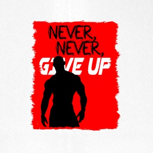 Never, Never, Give Up - Cappello con visiera Flexfit