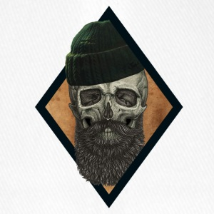 beard skull fisherman - Flexfit Baseball Cap