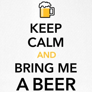 Keep calm and bring me a Beer Biergarten Grillen - Flexfit Baseballkappe