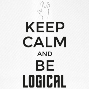 Keep Calm and be logical (dark) - Flexfit Baseball Cap