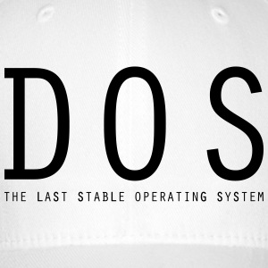 DOS - The Last Stable Operating System - Flexfit Baseballkappe