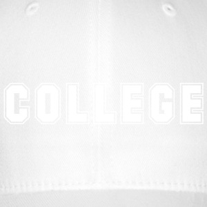 College t-shirt (white logo) - Flexfit baseballcap