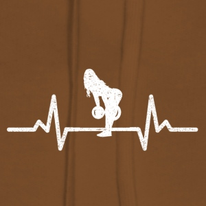 MY HEART BEATS FOR THE PUMP! (GYM WOMAN!) - Women's Premium Hoodie