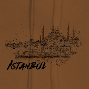 Istanbul - city view sketch - Women's Premium Hoodie