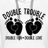 Double trouble double fun double love - Zwillinge - Frauen Premium Hoodie
