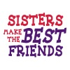 sisters make the best friends 2c - Sudadera con capucha premium para mujer