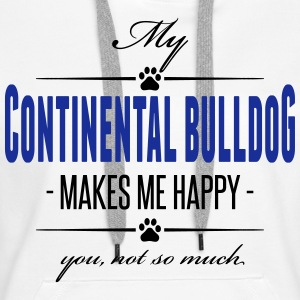 My Continental Bulldog makes me happy - Frauen Premium Hoodie