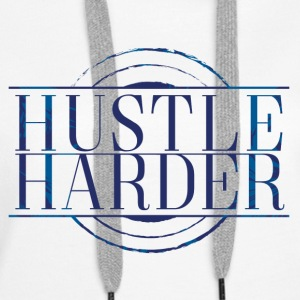 Hustle-Harder - Felpa con cappuccio premium da donna