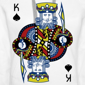 King of Spades Hold'em Poker - Bluza damska Premium z kapturem
