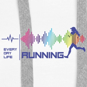 Running Girl - Everyday Life - God Vibes (fiolett) - Premium hettegenser for kvinner