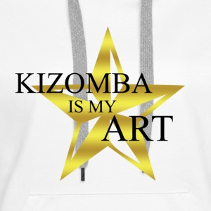 kizomba_is_my_art - Sweat-shirt à capuche Premium pour femmes