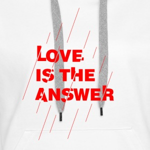 Love is the answer - Felpa con cappuccio premium da donna