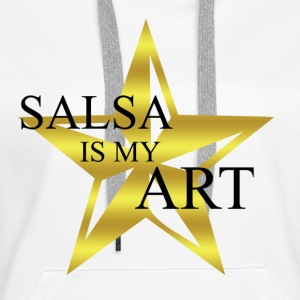 salsa_is_my_art - Sweat-shirt à capuche Premium pour femmes