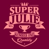 Super Julie - Sweat-shirt à capuche Premium pour femmes