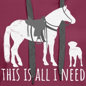 This is all I need - Western horse and dog - Women's Premium Hoodie