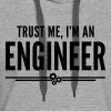 Trust Me Engineer Funny Quote - Sweat-shirt à capuche Premium pour femmes