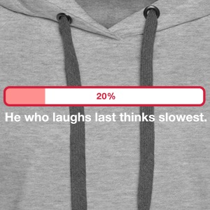 2041 he who laughs last thinks slowest od - Women's Premium Hoodie
