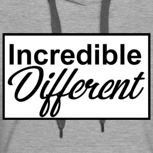 icredibledifferent_logo - Sweat-shirt à capuche Premium pour femmes