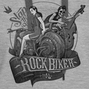 Rock Biker Slap That Bass (Gray-Druck) - Frauen Premium Hoodie