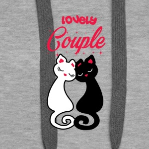 Cats cat | Couple of cats - Women's Premium Hoodie