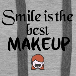 Smile is the best makeup - Women's Premium Hoodie
