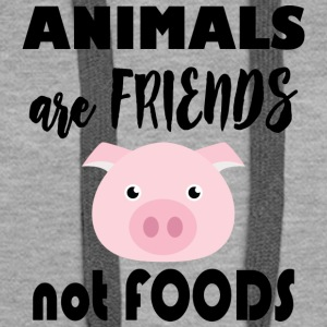 Animals are friends not food - Women's Premium Hoodie