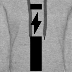 Lightning with strip - Women's Premium Hoodie