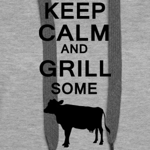 keep calm and grill some cows - Frauen Premium Hoodie
