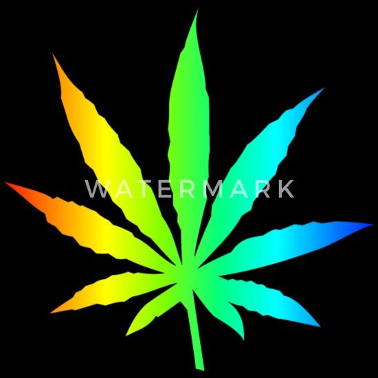 Marihuana liść Rainbow Bluza damska Premium z kapturem czarny
