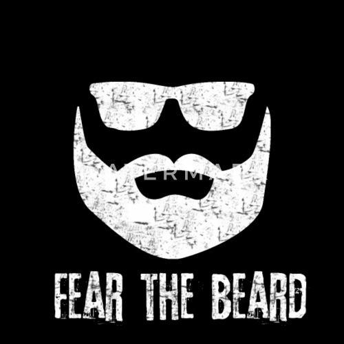 Homme barbe forte hipster gars effrayé Sweat à capuche