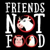 Friends Not Food | Vegan Statement - Bluza damska Premium z kapturem