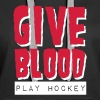 Give Blood Play Hockey - Women's Premium Hoodie